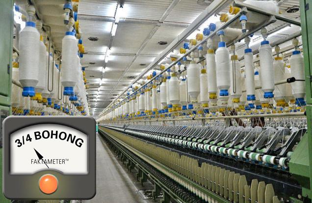 Penutupan Pabrik Pemintalan Besar-besaran