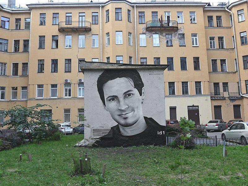 Pavel Durov begitu populer hingga dibuatkan mural di St. Petersburg