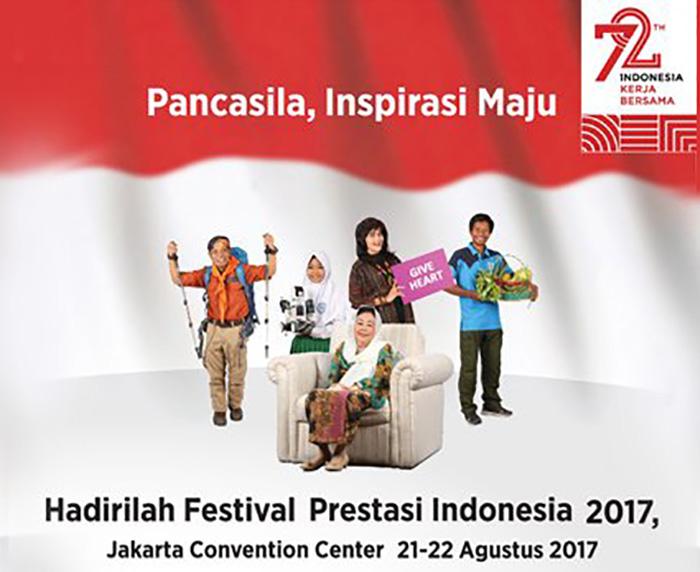 Festival Prestasi Indonesia untuk  Apresiasi 72 Ikon Berprestasi