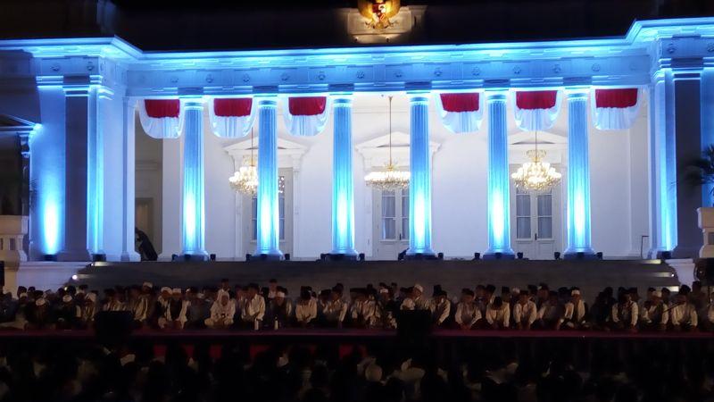 Zikir Kebangsaan di Istana Merdeka Sambut Rangkaian Hari Kemerdekaan RI