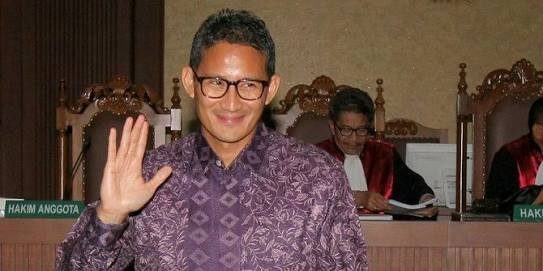 Sandiaga Uno Disebut sebagai Pemilik Korporasi yang Menjadi Tersangka KPK