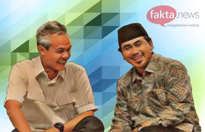 Ganjar-Yasin Kompak Silaturahmi ke Warga NU dan Muhammadiyah