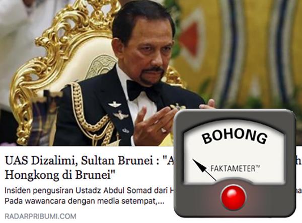 Sultan Hassanah Bolkiah Ajak Boikot Produk Hong Kong?
