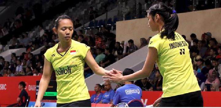 Piala Uber 2018: Della/Amelia Bawa Indonesia Unggul 3-1 atas Malaysia