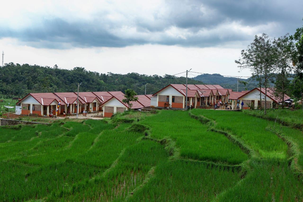 Pembangunan Rumah Khusus Bagi Warga Terdampak Pembangunan Bendungan Kuningan telah Rampung