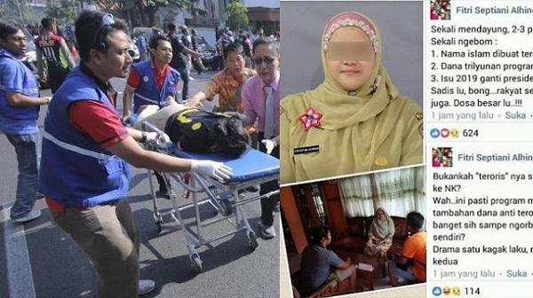 Dijerat Pasal Berlapis, Kepsek Penyebar Hoaks Bom Surabaya Jadi Tersangka