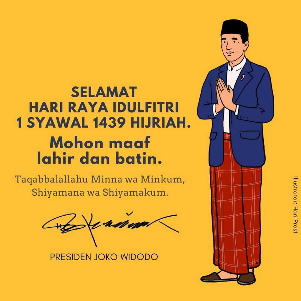 Momen Idul Fitri, Jokowi Ajak Pererat Persatuan