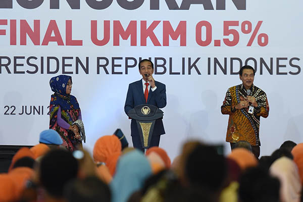 Presiden Jokowi Luncurkan Pajak Final UMKM 0,5 Persen