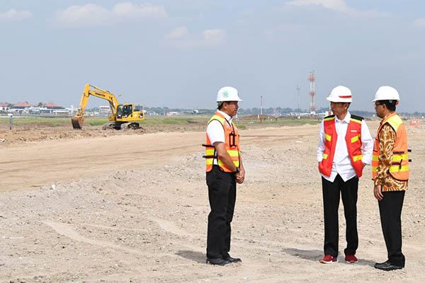 Presiden Tinjau Pembangunan Landasan Pacu Ketiga Bandara Soetta