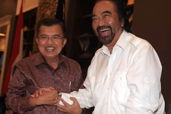 Soal JK Cawapres Jokowi, Surya Paloh: Langkahnya Terseok-seok, Jangan Maju Lagi