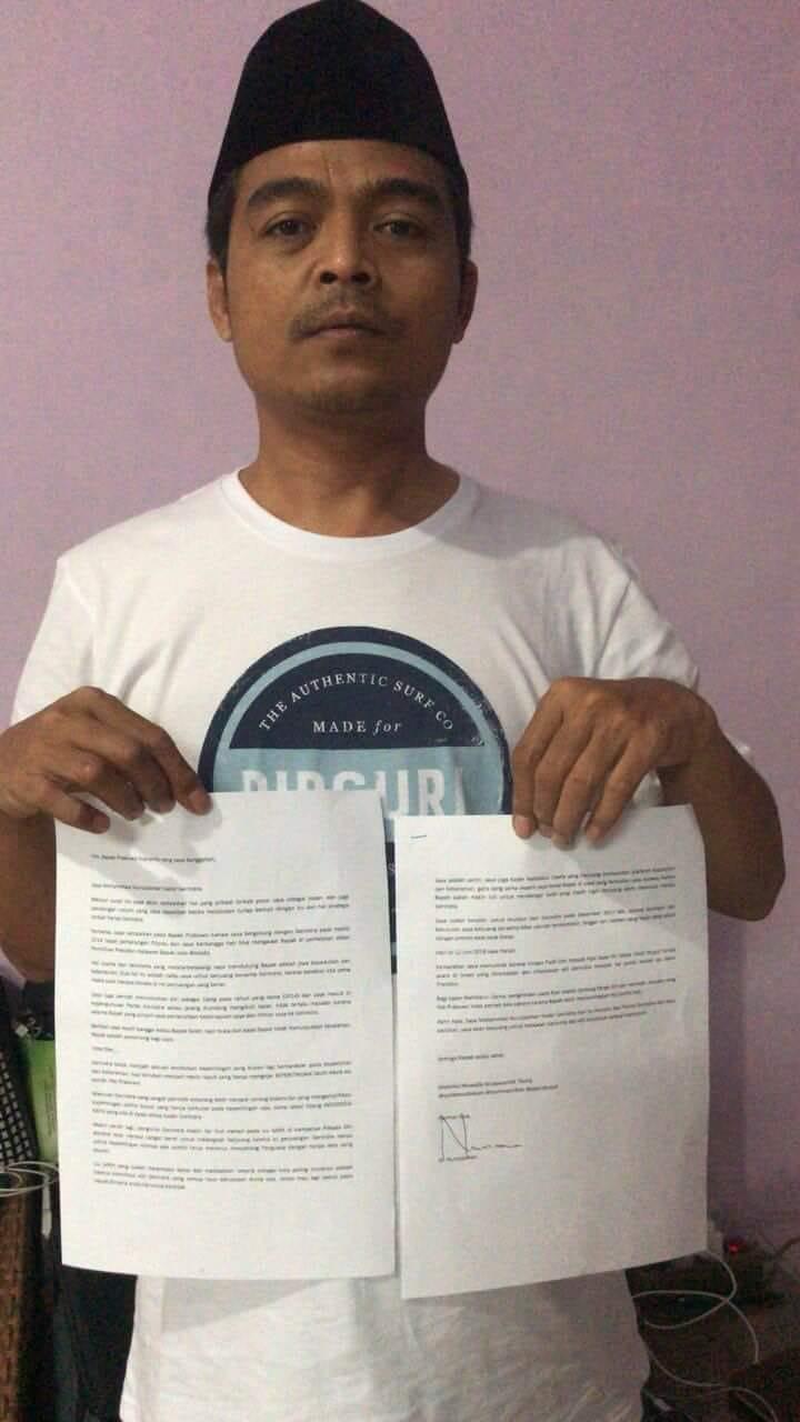 Ini Surat Mundur Wasekjen Partai Gerindra Ditujukan Kepada Prabowo