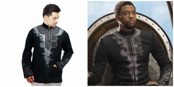 Baju Koko Black Panther
