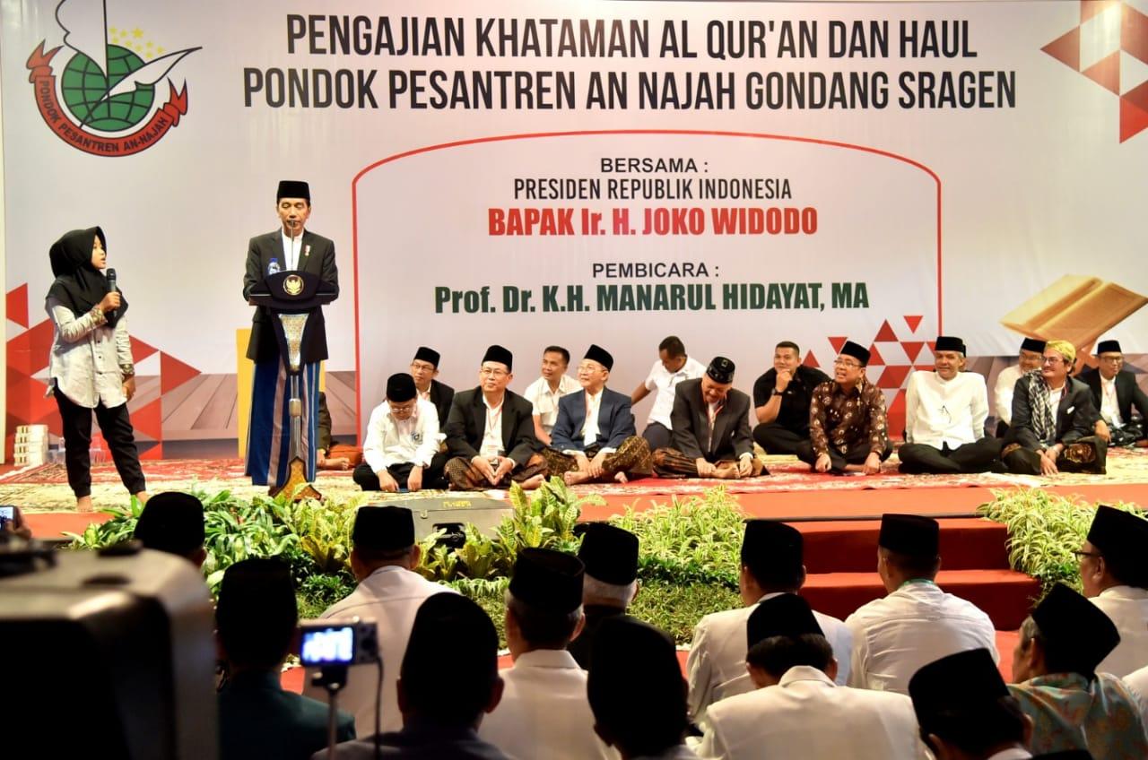 Presiden Ajak Santri Jaga Ukhuwah Islamiyah