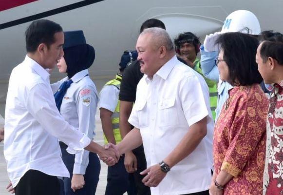 Jokowi dan Alex Noerdin tinjau perkembangan asian games