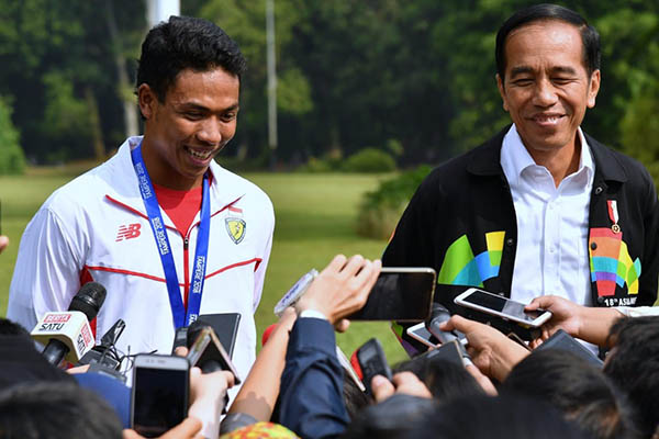 Presiden Jokowi Puji Lalu Muhammad Zohri sebagai 'Orang Besar'