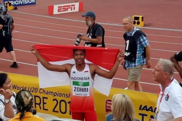 Atlet Indonesia, Lalu Muhammad Zohri Sabet Juara Dunia Lari 100 Meter di Finlandia