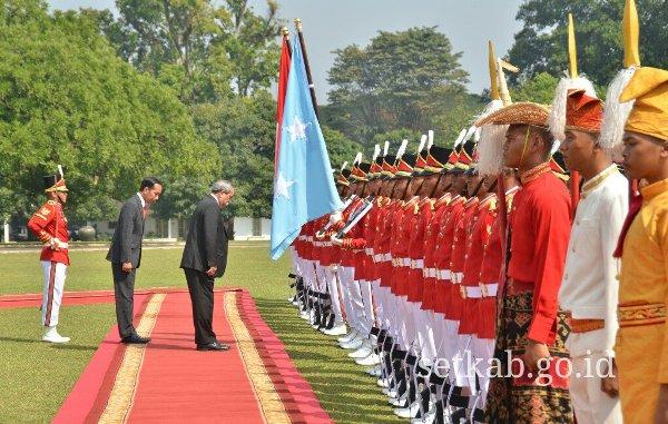 Presiden Jokowi dan Presiden Mikronesia
