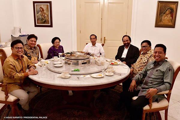 Demokrat dan Gerindra Bermanuver, Parpol Koalisi Jokowi Tetap Solid