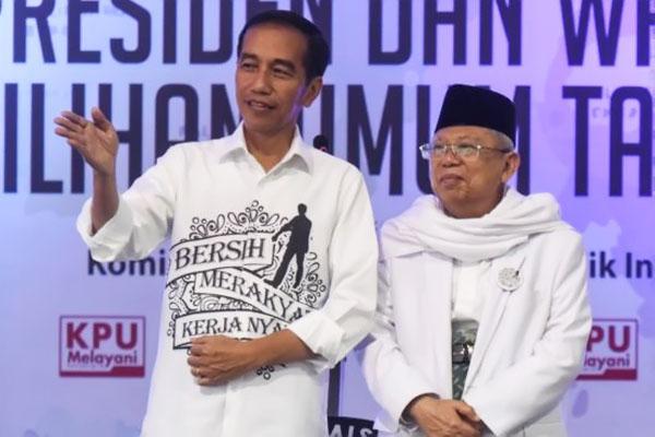 Raih 52,2 Persen, Elektabilitas Jokowi-Ma'ruf Kalahkan Prabowo-Sandiaga