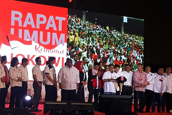 Ikrar Kebulatan Tekad Relawan Menangkan Jokowi di Pilpres 2019