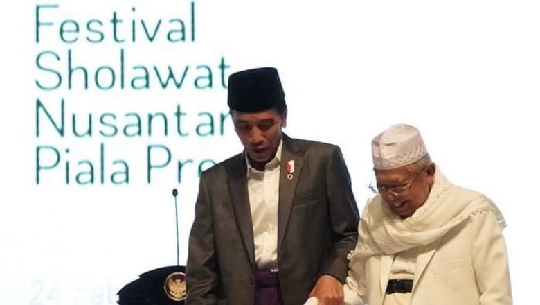 Jokowi: Ma'ruf Amin Adalah Sosok yang Utuh dan Bijaksana
