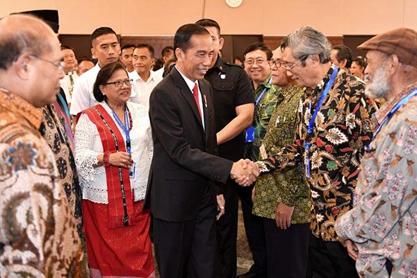 Silaturahmi dengan Pengurus PGI, Presiden Sampaikan Optimisme Bangsa