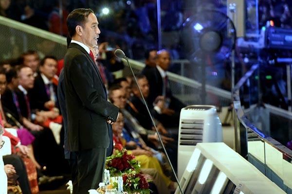 Dengan Ucapan Bismillah, Presiden Jokowi Resmi Buka Asian Games XVIII