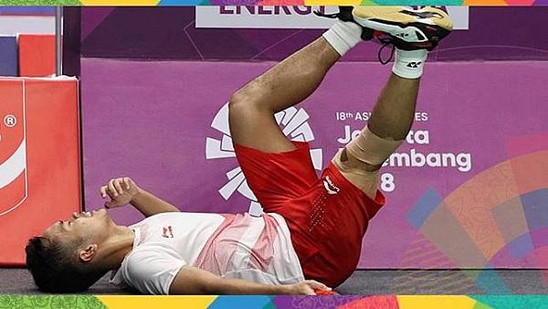 Tentang Kram Otot, Cidera yang Diderita Anthony Ginting pada Final Bulu Tangkis Asian Games 2018