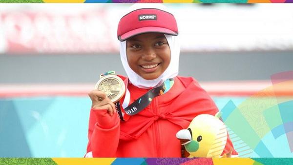 Atlet Skateboard Indonesia, Peraih Medali Termuda di Asian Games 2018