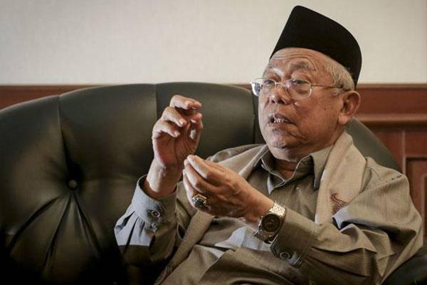 Ma'ruf Amin Angkat Bicara Soal Usulan Debat Pilpres Pakai Bahasa Inggris
