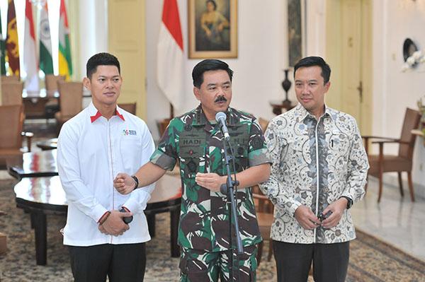 Panglima TNI Beri Kenaikan Pangkat Percepatan Bagi Prajurit Peraih Medali Asian Games 2018
