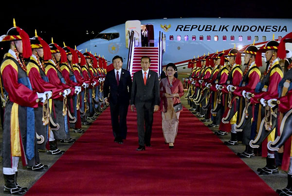 Presiden Jokowi Tiba di Seoul untuk Kunjungan Kenegaraan