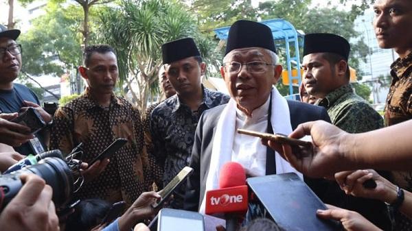 Ma'ruf Amin Klaim Pendukungnya di Pulau Jawa Dukung Jokowi