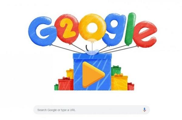 Google Rayakan HUT Dua Dekade dengan Google Doodle