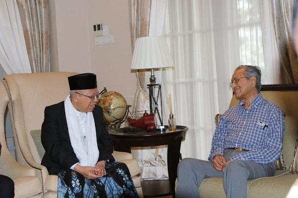 Usai Temui Mahathir, Ma'ruf Amin: Semangat Saya Bangkit Kembali