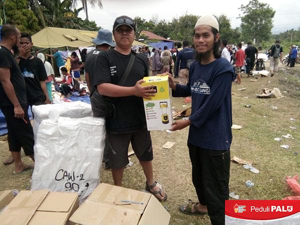 Penyaluran Bantuan KAPT Peduli PALU di Kabupaten Sigi