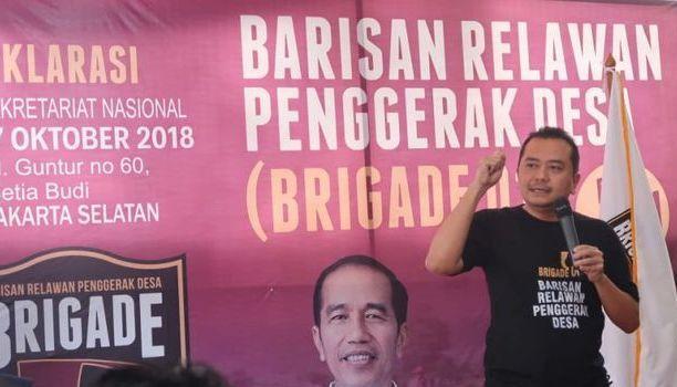 Relawan Brigade 01 Siap Menangkan Jokowi di Pilpres 2019