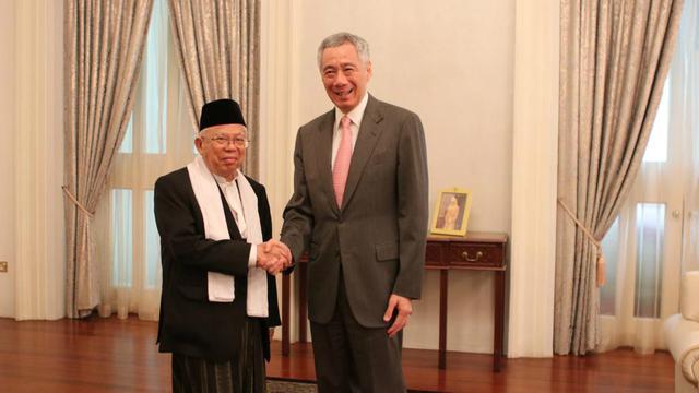 Bertemu PM Singapura, Kiai Maruf Ingin Hubungan Indonesia-Singapura Makin Erat