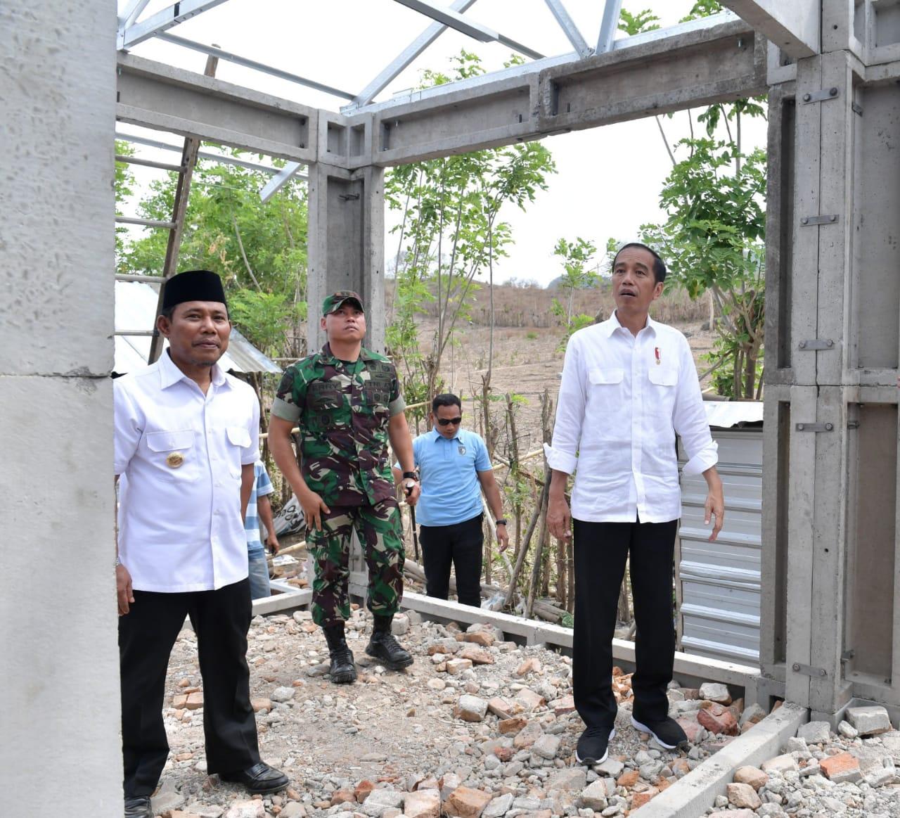 Presiden Jokowi Tinjau Pembangunan RISHA di Lombok NTB