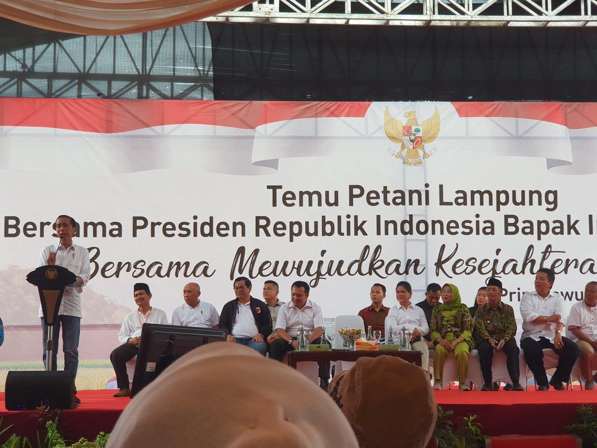 Lewati Tanah Becek dan Berlumpur, Jokowi Antusias Temui Petani Pringsewu