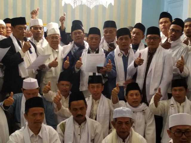 Ikrar Dukungan Ulama dan NU Jakarta Pusat untuk Jokowi-Maruf