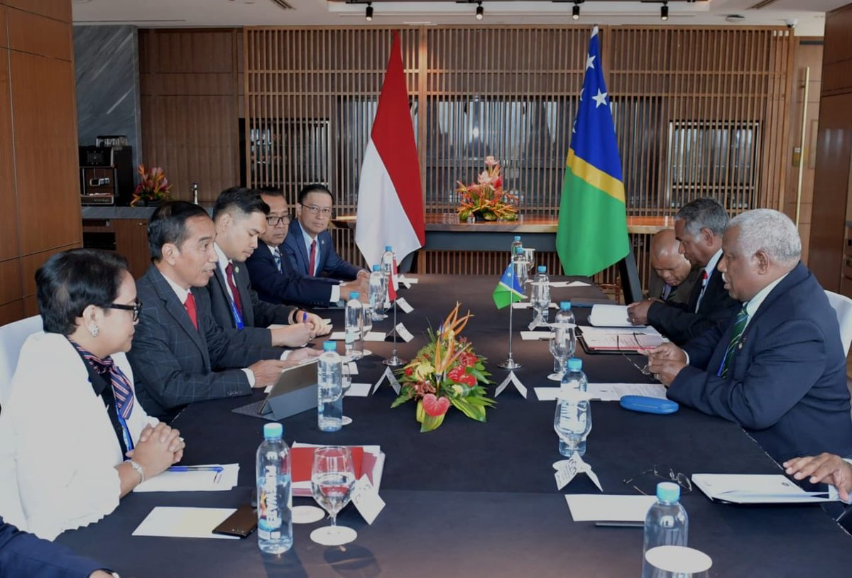 Presiden Jokowi Lakukan Pertemuan Bilateral dengan PM Kepulauan Solomon