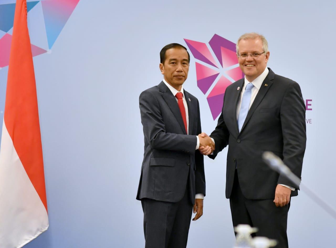 Presiden Jokowi Gelar Pertemuan Bilateral dengan PM Australia
