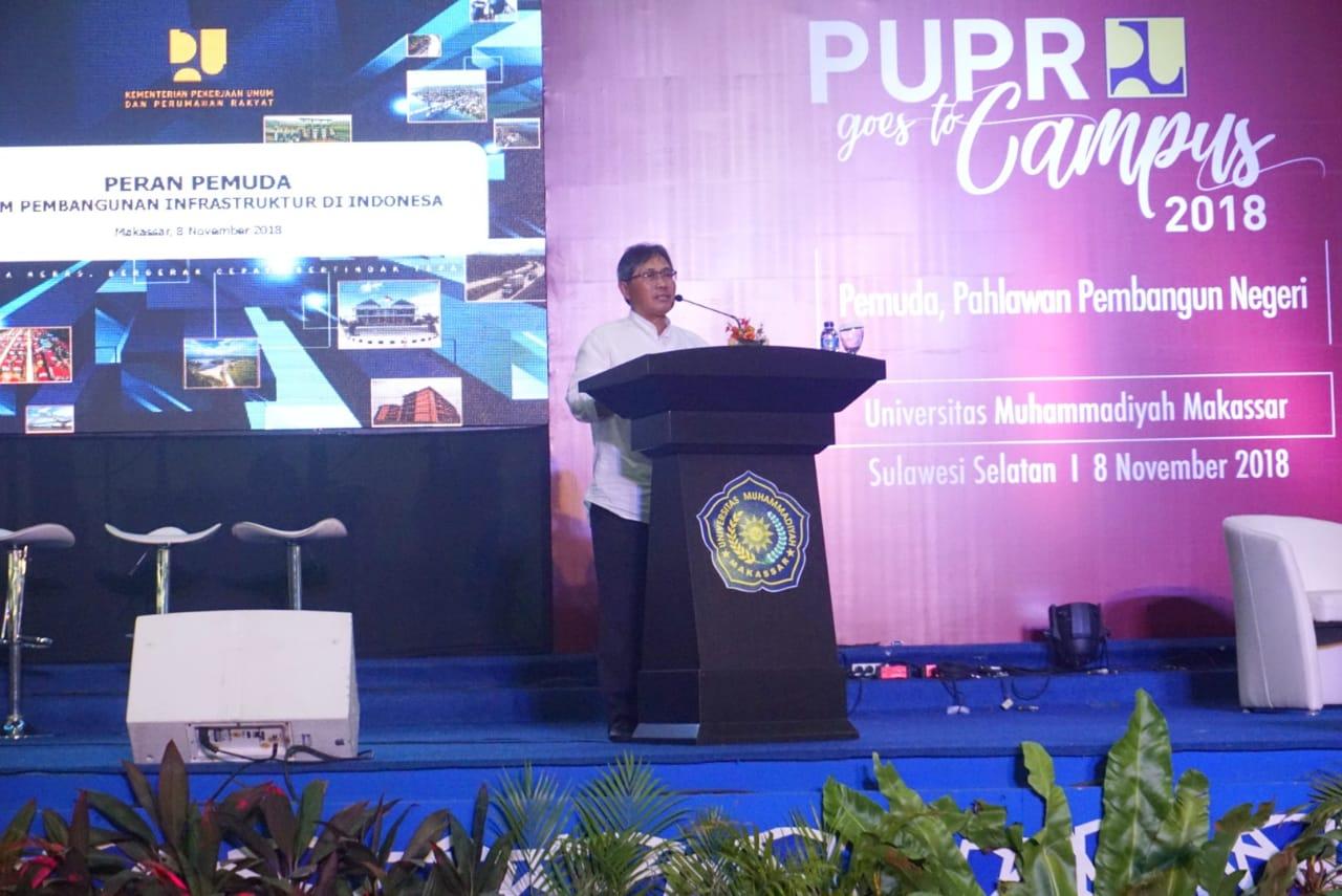 Kementerian PUPR Ajak Mahasiswa Jadi Pahlawan Bangsa Dalam Membangun Infrastruktur di Indonesia