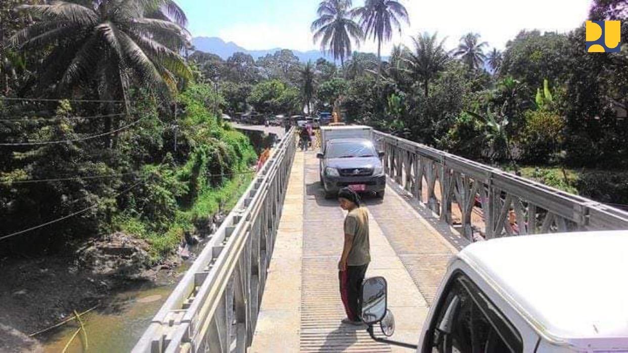Jembatan Darurat Padang-Bukittinggi Bisa Dilalui Satu Jalur