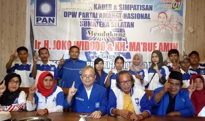 Setelah Kalsel, Kini Giliran Kader PAN di Sumsel Ramai-ramai Deklarasi Dukungan untuk Jokowi