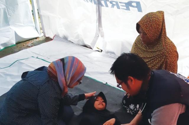 Posko Layanan Kesehatan Pertamina Peduli untuk Warga Terdampak Tsunami Banten