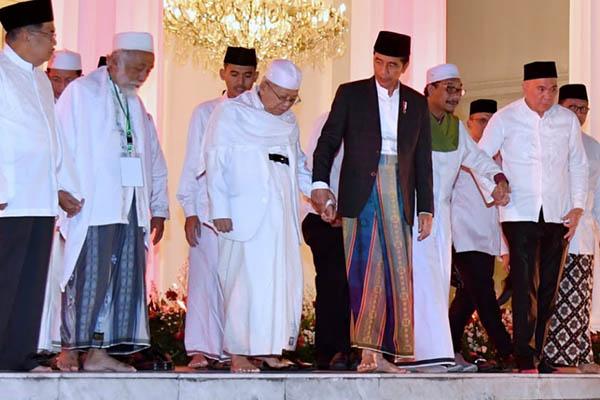 Ma'ruf Amin: Tak Hanya NU dan Muhammadiyah, Semua Ormas Lain Juga Dirangkul Jokowi