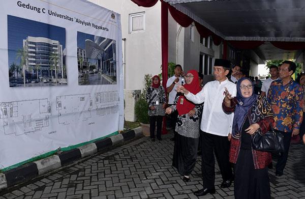 Kunjungi Universitas Aisyiyah, Presiden Jokowi Tinjau Pola Pengembangan SDM