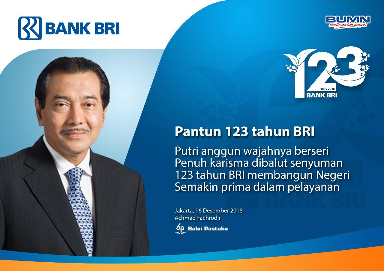Laba Bersih Rp23,5 Triliun Bak Kado Ulang Tahun ke-123 Bank Rakyat Indonesia